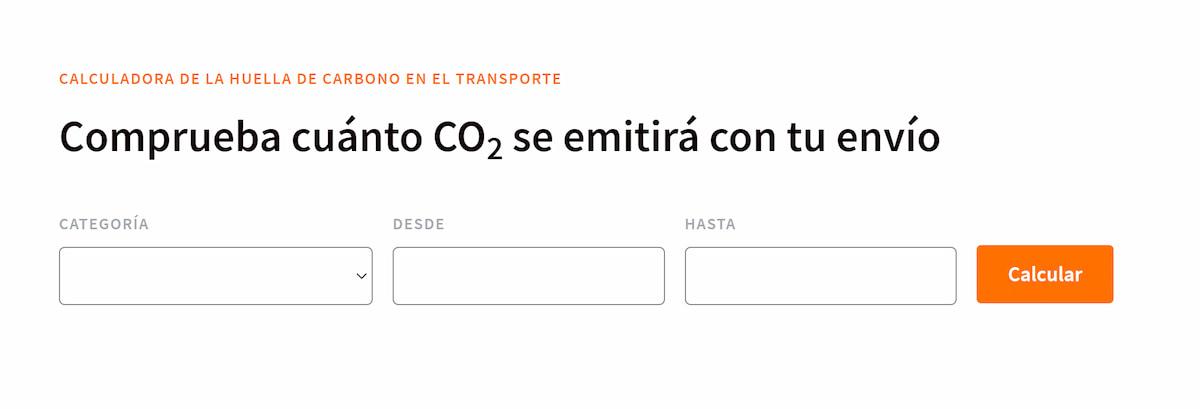 Calcular CO2 emitido por un envío